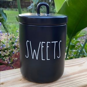 New Rae Dunn Black SWEETS Canister